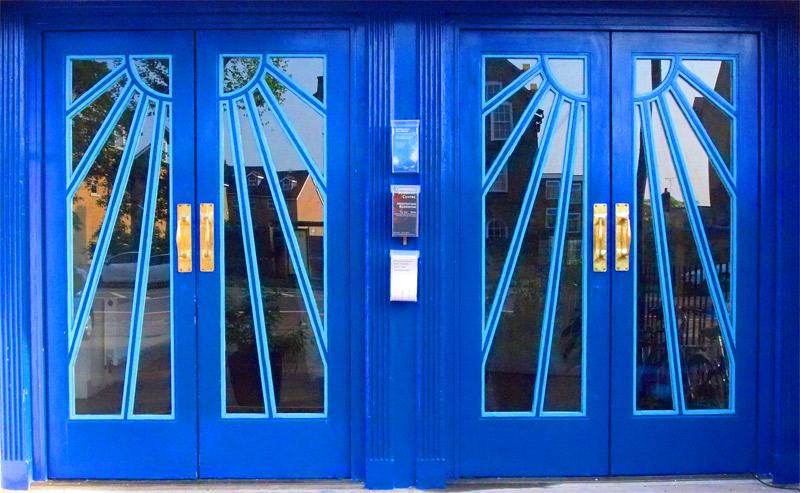 Entrance to The Cambridge Festival Theatre is through the origional 1920u0027s door. (photo by Simon Mullen) & Entrance to The Cambridge Festival Theatre is through the origional ...
