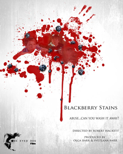 poster for short film 'Blackberry Stains'