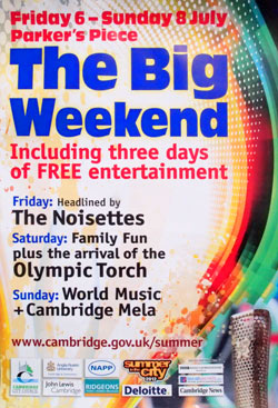 The Big Weekend 2012 event poster